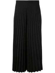 Blugirl Pleated Cropped Trousers Women Polyester Spandex Elastane 42 Black