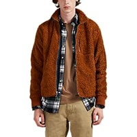 Alex Mill Sherpa Zip Front Jacket Rust