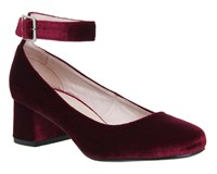 Office Flashback Block Heels Burgundy