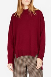 Rosetta Getty Cropped Front Jumper Red