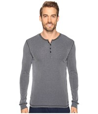 Kenneth Cole Reaction Ribbed Henley Navy Men's Pajama