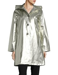Jane Post Hooded A Line Jacket Pearl