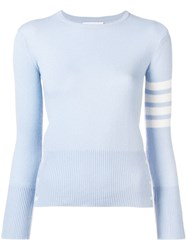 Thom Browne 4 Bar Cashmere Pullover Blue