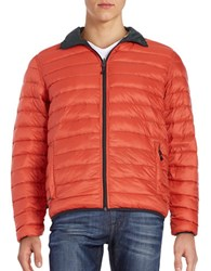 Hawke And Co Packable Down Puffer Jacket Orange Pine
