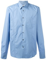 Marni Asymmetric Pocket Shirt Blue