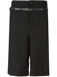 Golden Goose Deluxe Brand Perforated Shorts Black