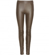 Emilio Pucci Leather Leggings Green