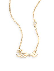 Sequin Love Necklace Gold