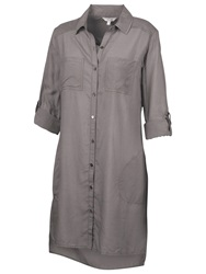 Fat Face Emma Longline Shirt Dress Moleskin