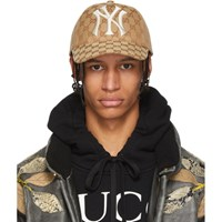 Gucci Brown Ny Yankees Edition Gg Supreme Patch Cap