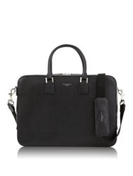 Aspinal Of London Small Mount Street Briefcase Black