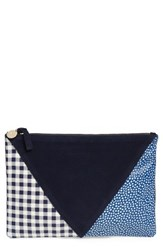 Clare V. Patchwork Leather Clutch