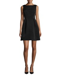 Kate Spade Sleeveless Fit And Flare Bow Back Dress Black