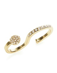A.B.S. By Allen Schwartz Pave Double Ring Gold