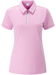 Ping Noa Short Sleeve Polo Pink