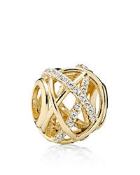 Pandora Design Pandora Charm 14K Gold And Cubic Zirconia Galaxy Moments Collection Clear Gold
