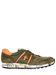 Premiata Sky Suede And Nylon Sneakers