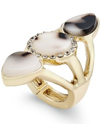 Thalia Sodi Gold Tone Tortoiseshell Look Stretch Ring Only At Macy's