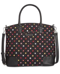 Vera Bradley Signature Trimmed Satchel Havana Dots With Black