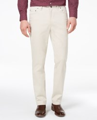 Tasso Elba Men's Classic Fit Stretch Pants Created For Macy's Stone Wall