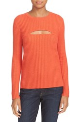 Frame Women's Cutout Wool Blend Sweater Red