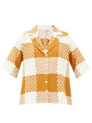 Ace And Jig Etta Checked Cotton Shirt Beige Multi