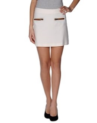 Hotel Particulier Mini Skirts White