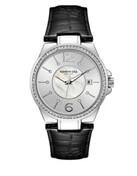 Kenneth Cole Ladies Leather Strap Analog Watch