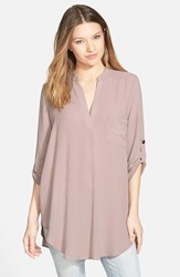 Lush Women's Perfect'roll Tab Sleeve Tunic Sphinx