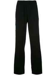 Tibi Loose Fit Track Pants Black