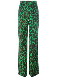Versace 'Camoupard' Palazzo Trousers Multicolour