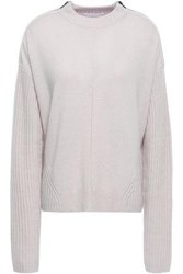 Duffy Woman Zip Detailed Wool And Cashmere Blend Sweater Blush