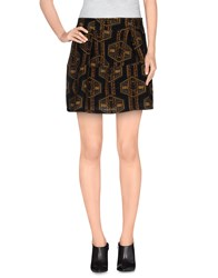 Suncoo Skirts Mini Skirts Women Black