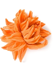 Erika Cavallini Semi Couture Flower Brooch Yellow And Orange