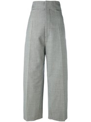 Jacquemus High Rise Tailored Trousers Women Cotton Viscose Mohair Wool 40 White