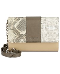 Nine West Aleksei Mini Crossbody Sandstone Natural Multi Deep Stone