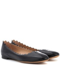 Chloe Lauren Patent Leather Ballerinas Black