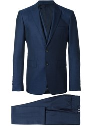 Burberry London 'Stirling' Three Piece Business Suit Blue