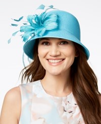 August Hats Jet Dressy Cloche Turquoise