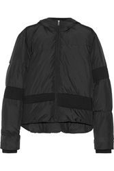 Mm6 Maison Margiela Quilted Shell Hooded Jacket Black