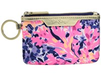 Lilly Pulitzer Key Id Case Multi Coco Coral Crab Wallet Pink