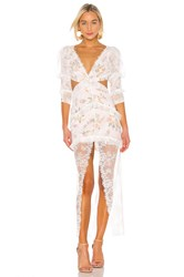 For Love And Lemons Pearl Maxi Dress Pink