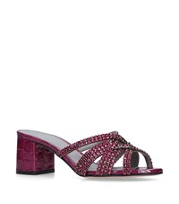 Gina Embellished Dexie Mules 50 Red