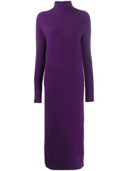 Christian Wijnants Kova Long Roll Neck Dress Purple