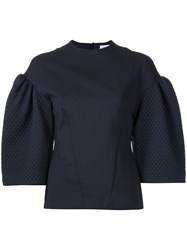 Bianca Spender Quilted And Ponte Academy Blouse Blue