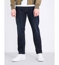 Paul Smith Tapered Mid Rise Stretch Cotton Jeans Navy Blue