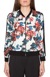 Willow And Clay Women's Floral Print Bomber Jacket