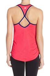 Women's New Balance Ruched Tank Pink Zing Heather