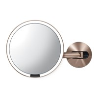 Simplehuman Rechargeable Sensor Wall Mirror Rose Gold