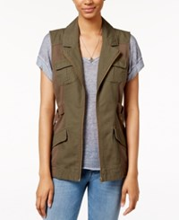 American Rag Front Zip Cargo Vest Only At Macy's Olive